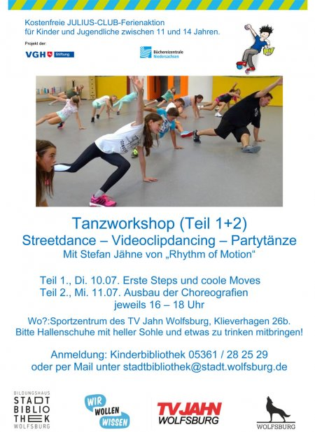 JuLius Club 2018 Flyer Tanzworkshop
